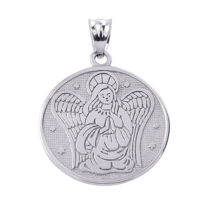 Pendentifla protection Double Sided Charm pendentif en Argent 925/1000 Ange