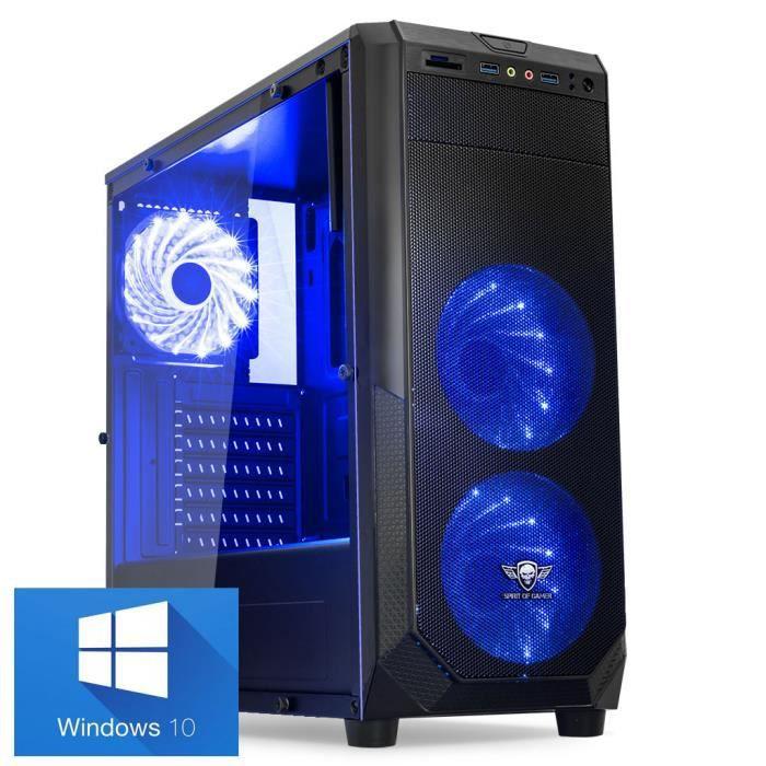 UNITÉ CENTRALE  Ordinateur Pc Gamer Rogue Blue AMD A8-7600 - Mémoi