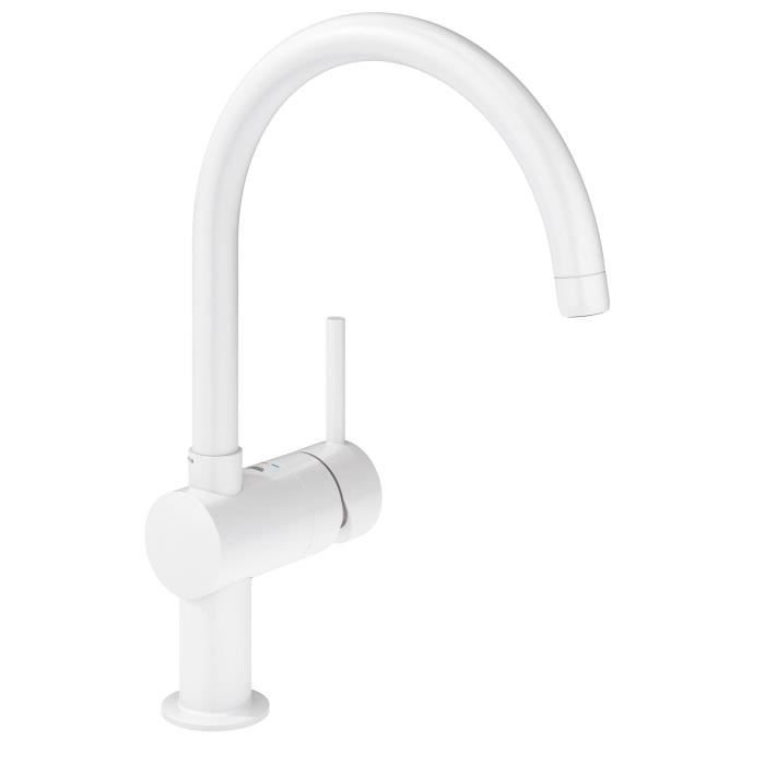 ROBINETTERIE SDB Grohe Mitigeur Evier Bec Minta C (Blanc 32 917 LS0