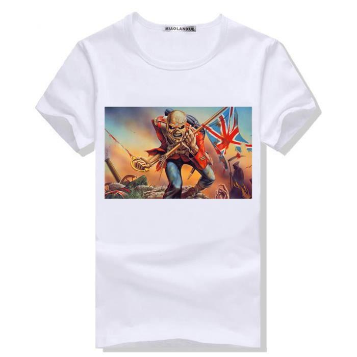 b255a2dd8bf8b9 Imprimé Tee Shirt Homme TeTe De Mort squelette tête image de crâne ...