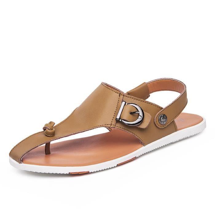 Homme Sandales cuir sandales sport et pantoufle...