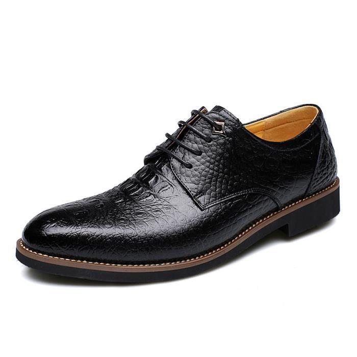 Richelieu Cuir Chaussure Homme Noir