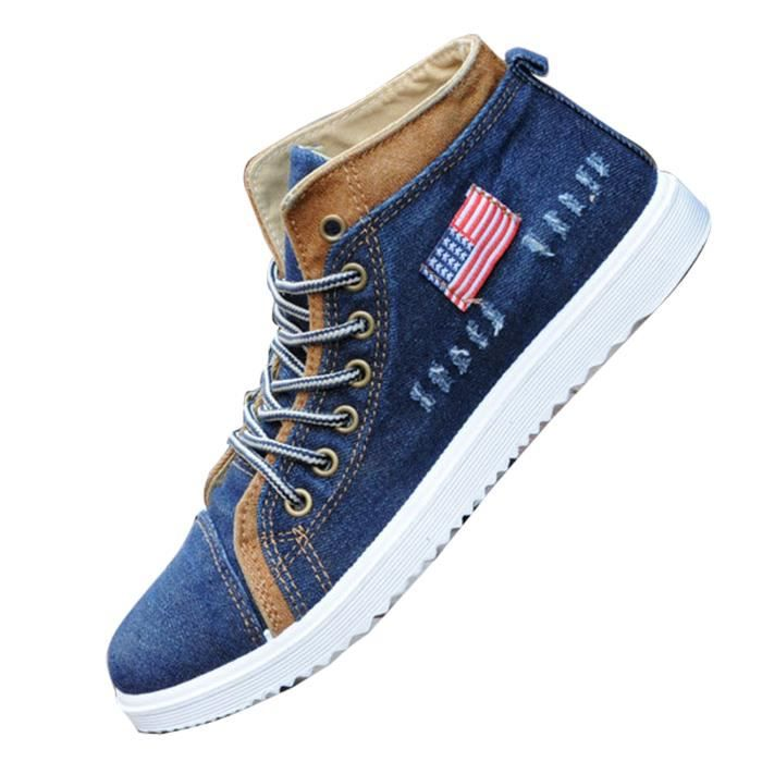 Chaussures lac à Jeans hommes montantes Baskets gqwXCtx