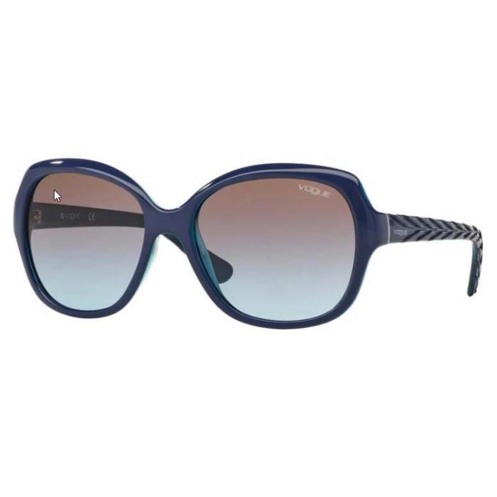 Lunette de soleil Vogue 3D Spike 0VO2871S 238348 56 Bleu myosotis,azur  transparent 102f8dc8da96