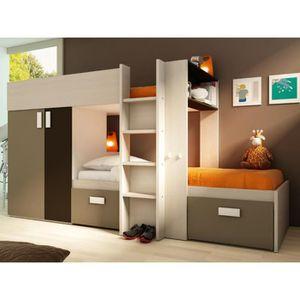 lit superpose avec armoire integre achat vente lit superpose avec armoire integre pas cher. Black Bedroom Furniture Sets. Home Design Ideas