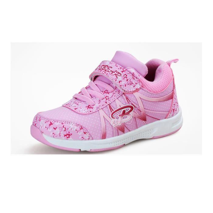 JOZSI Basket Enfant hiver Sport Plus cachemire Ultra léger Chaussure LKG-XZ211Rose29-1