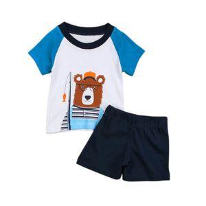 8a95355bc3341 ... Ensemble de vêtements 0-24 Mois Bébé Garçon Vêtement Été 2 Pcs  Ensemble. ‹›