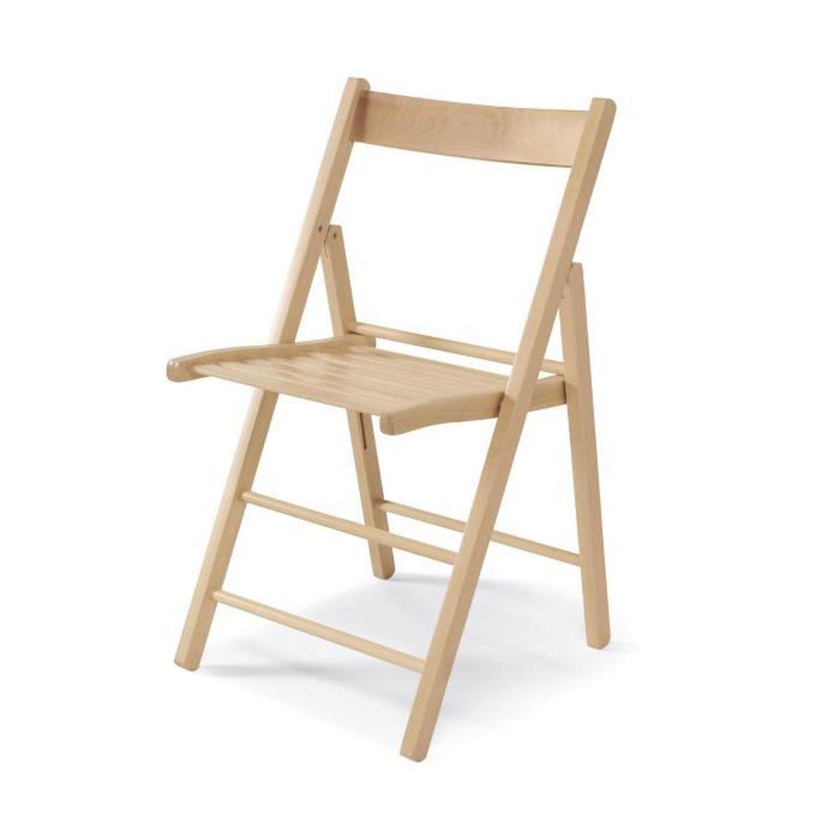 chaise pliante bois achat vente chaise pliante bois pas cher cdiscount. Black Bedroom Furniture Sets. Home Design Ideas