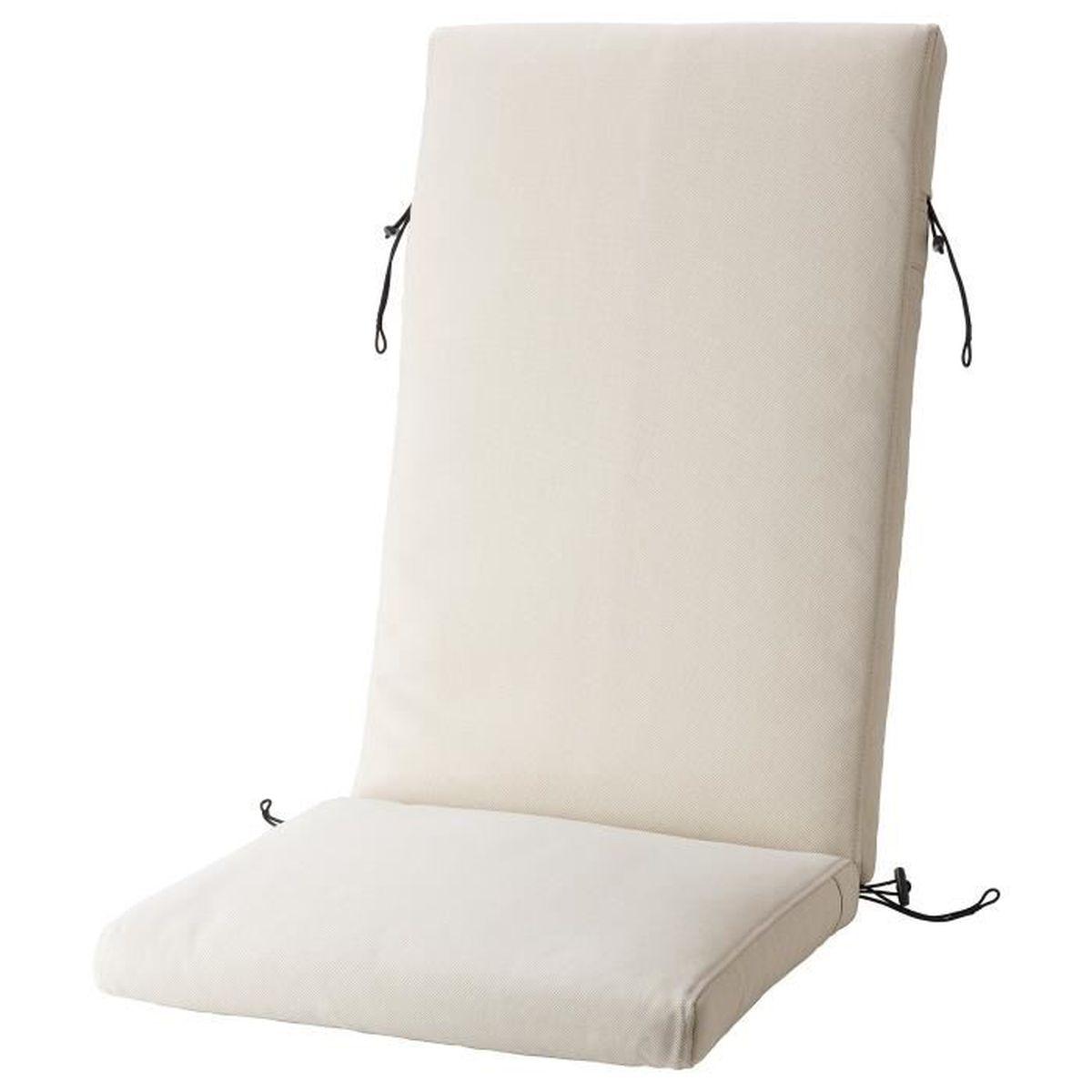 Coussin Assise Dossier Couleur Beige Pour Chaise Terrasse Ou Jardin Extrieur 116x45 Cm Froson Duvholmen Ikea