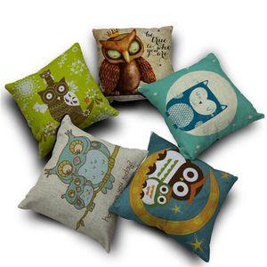 COUSSIN s0868 1 PCS Cartoon Style de hibou cadeau Linen Co