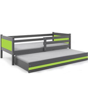 lit gigogne enfant achat vente lit gigogne enfant pas cher cdiscount. Black Bedroom Furniture Sets. Home Design Ideas
