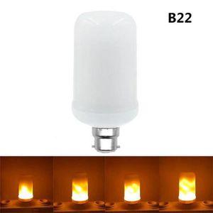 AMPOULE - LED B22 360 ° Flamme Effet Scintillant Feu Ampoule Déc