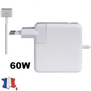 CHARGEUR - ADAPTATEUR  CHARGEUR Macbook Charger 60W Magsafe 2 .