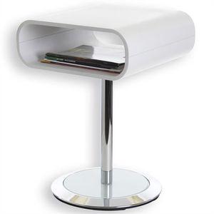 TABLE D'APPOINT Sellette guéridon table d'appoint métal et bois