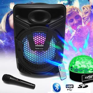 PACK SONO Enceinte Amplifiée Karaoke autonome Mobile SONO DJ