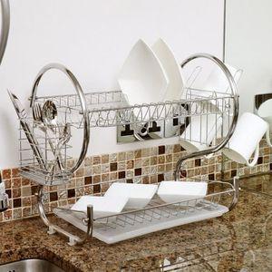 EGOUTTOIR À COUVERTS Panier à vaisselle en argent Moderne et pratique P