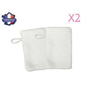 MODULIT  Lot de 2 petits gants de toilette d apprentissage pour bébé enfant  Blanc b7be18fe44c