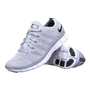 half off d3d04 f9233 BASKET Chaussure Nike Free Flyknit Nsw 599459 Gris