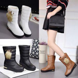 Chaussures Femme Hiver Peluche fond épaisé Chaussure DTG-XZ065Jaune40 z9cemU