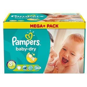 COUCHE 114 Couches Pampers Baby Dry taille 3