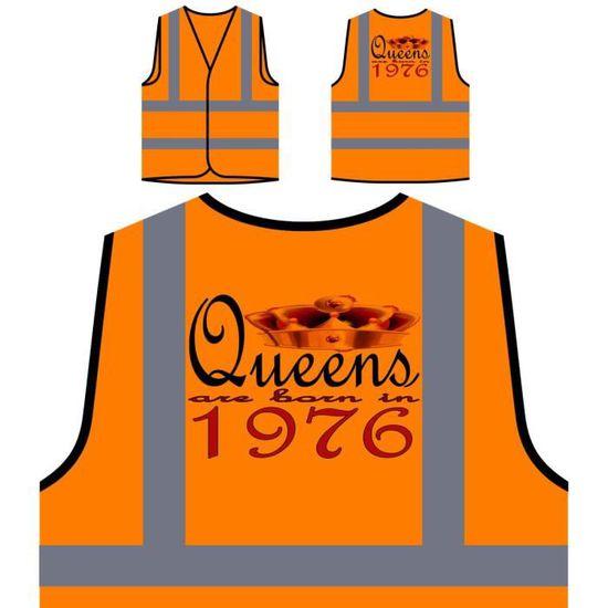 Né À Orange Design En Personn new 1976 Personnalisée Haute Queens Art Veste De Protection Visibilité Est zUqxUw7I