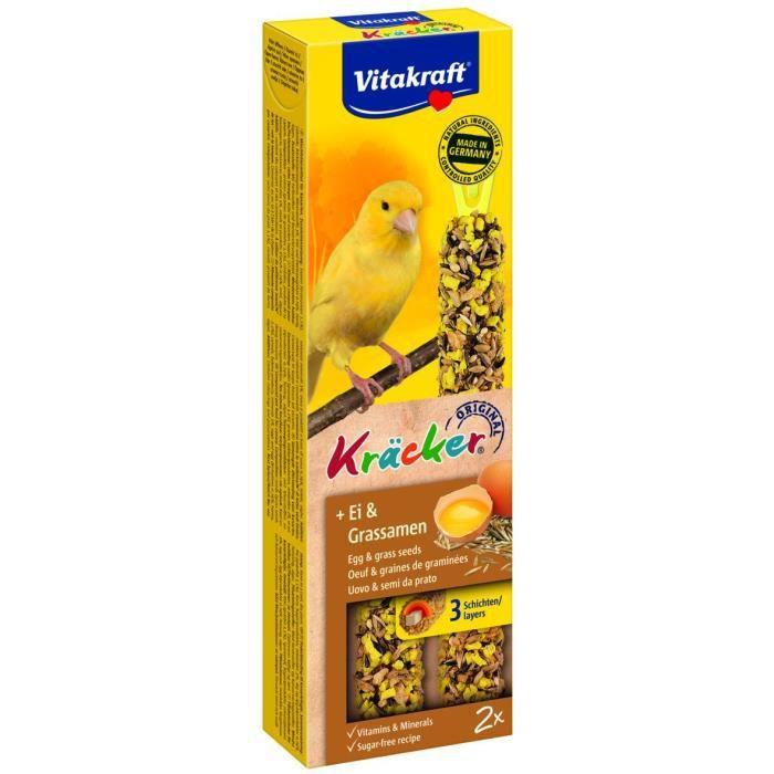 VITAKRAFT Kräcker Œuf et graines de graminée P/2 - Pour canari