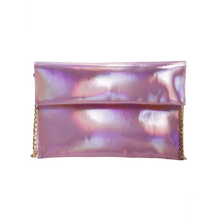 Chic Main Pochette Fermeture Magnétique Couleur Rose Simple À Et Femmes qwC05Sn0