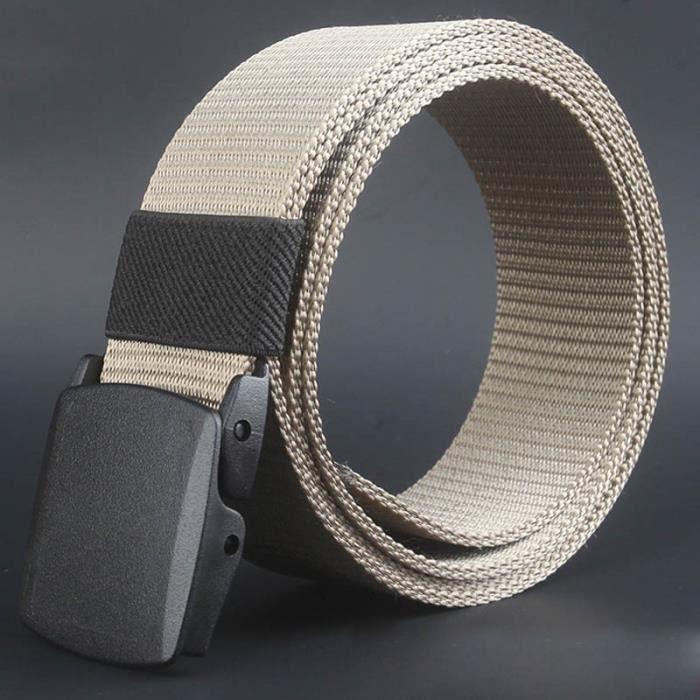 wild-hommes-toile ceinture hypoallergénique métal sans plastique  automatique boucle Kaki 116cdafa5fd