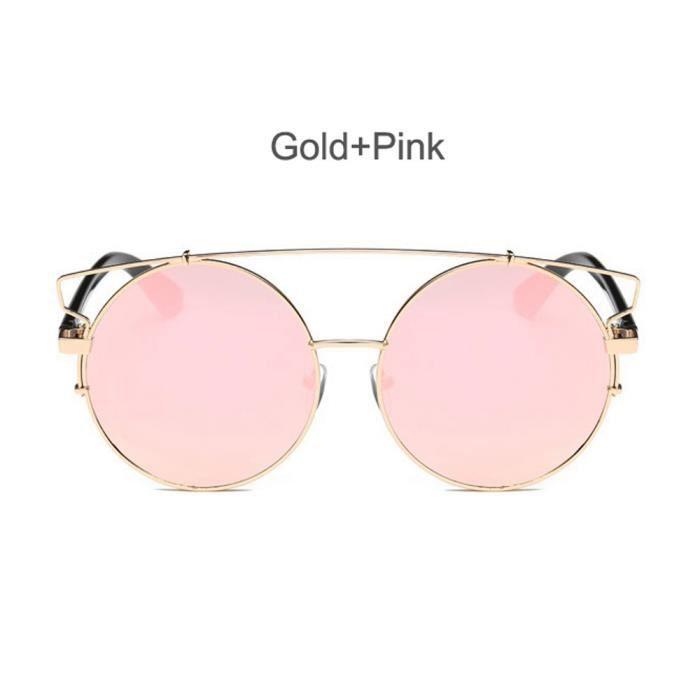 miroir rose de Aviator soleil Femmes de lunettes Vintage e hommes lunettes  unisexe rétro mode lentille TxnAUpwq7 5e3b0a616279