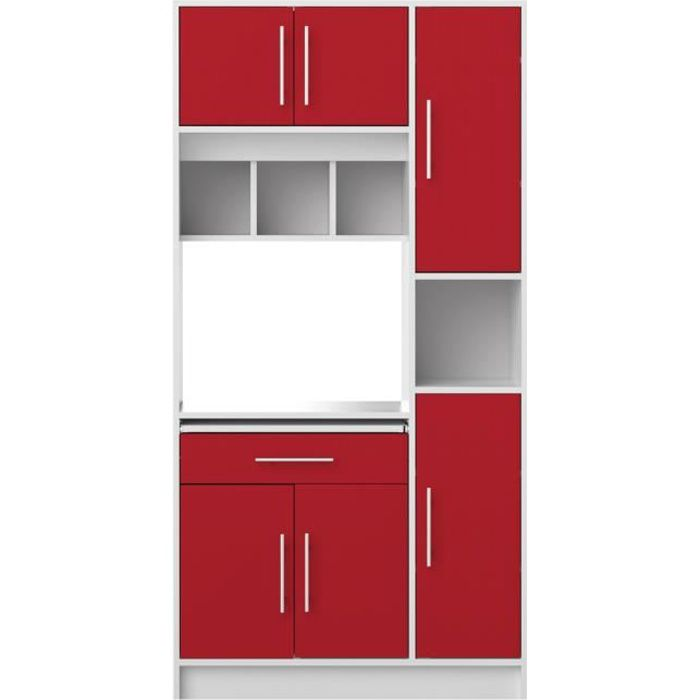 Cuisine Rouge Brillant meuble de cuisine rouge brillant - achat / vente pas cher