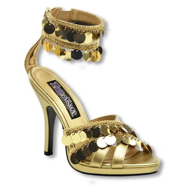 Sandales dorées avec bride à la cheville Size: 36