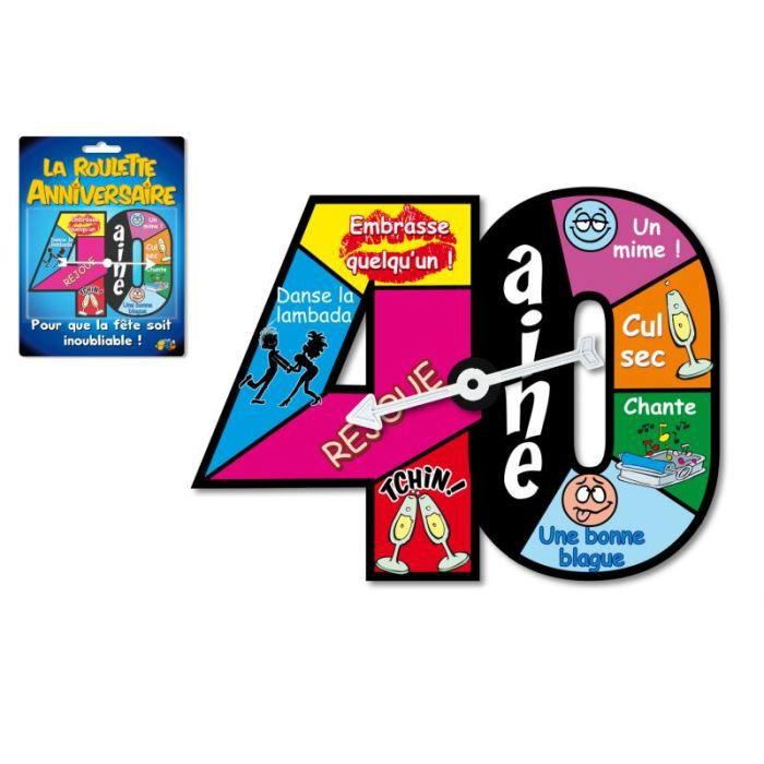 roulette jeu d 39 anniversaire 40 ans achat vente jeu soci t plateau cdiscount. Black Bedroom Furniture Sets. Home Design Ideas