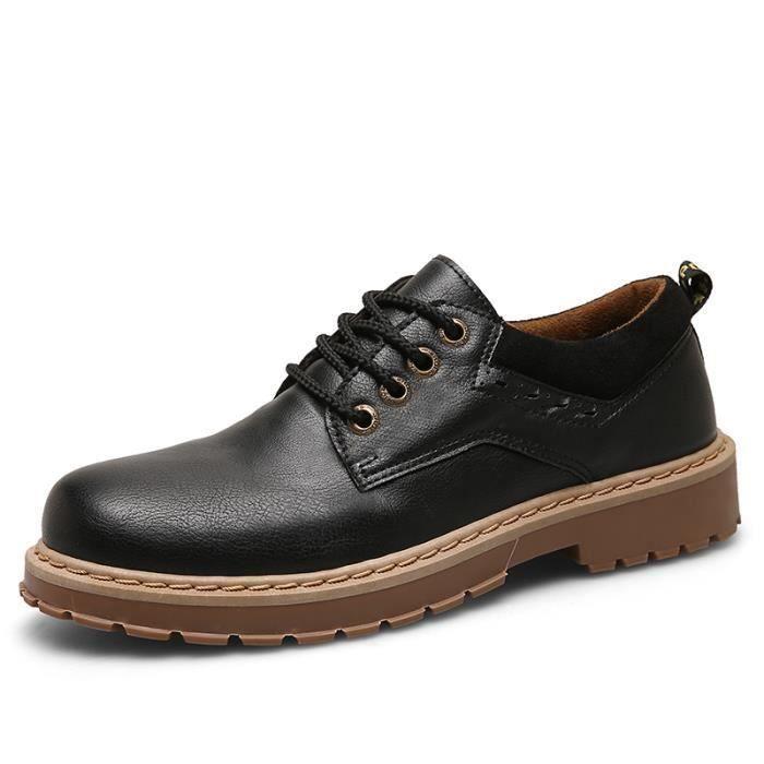 Homme Qualité Cuir Chaussure De En Haute Antidérapantes Noir Chaussures Travail Bottines CBexrodW