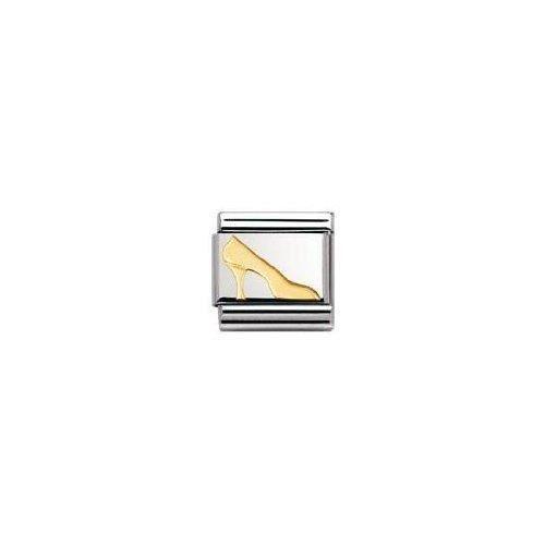 Nomination 030109 - Maillon Pour Bracelet Composable Mixte - Acier Inoxydable Et Or Jaune 18 Cts R5DKU