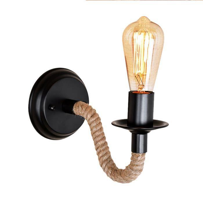 Applique Murale Vintage De Style Industriel, Corridor Lumineux Creatif,  Couloir Mur Led Lampe, Lampe De Chevet Noir; Marron