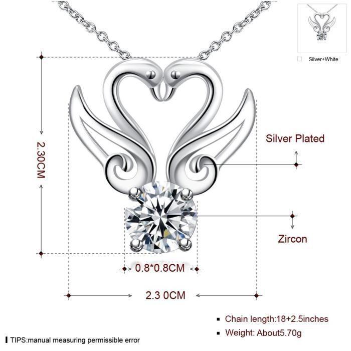 Trendtwo Chaîne de femmes vague collier pendentif mariage AF93G