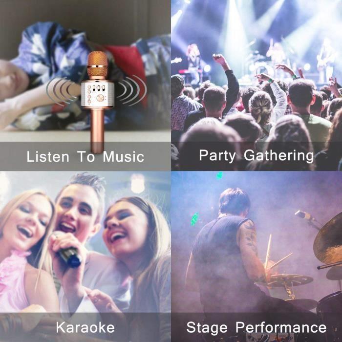 Microphone Karaoké Bluetooth 4.1 Haut-parleur Intégré 3-en-1 Machine Portable Enregistrement Pour Smartphone Android Iphone Ipad Pc