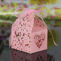 BOÎTE À DRAGÉES 20pcs Boîtes creux à dragée boîte à bonbons Mariag
