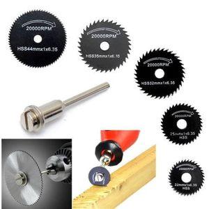 SCIE ÉLECTRIQUE 6pcs / set mini HSS outil rotatif circulaire lames