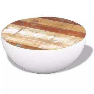 TABLE BASSE R176 Cette table basse exotique faite en bois de r