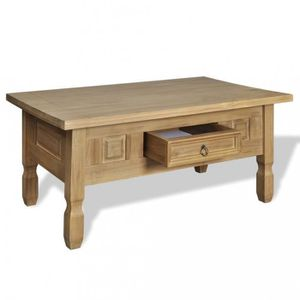 Table basse pin massif achat vente table basse pin for Table basse en pin