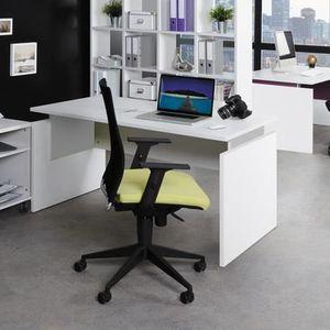 BUREAU  Bureau professionnel droit 140x80cm coloris blanc