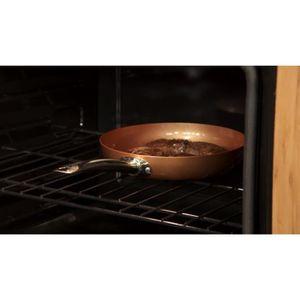 POÊLE - SAUTEUSE Copper Chef Kit de poê carrée, profonde, antiadhés