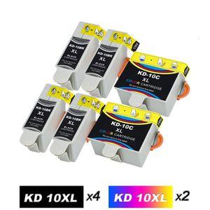 CARTOUCHE IMPRIMANTE Pack de 6 Kodak 10 (4Noir + 2Couleur) Cartouches d