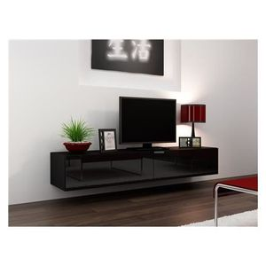 meuble tv suspendu achat vente meuble tv suspendu pas cher cdiscount. Black Bedroom Furniture Sets. Home Design Ideas
