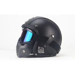 CASQUE MOTO SCOOTER 2018 nouveau casque moto cool avec masque 1