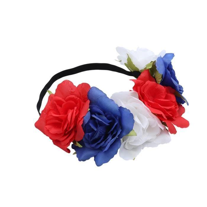 Bandeau de fleur patriotique Belles Femmes Filles Bandeau pour la fête nationale américaine le 4 juillet