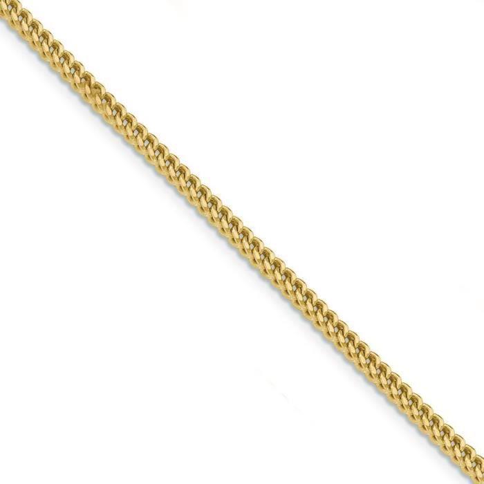14 carats 3 mm Collier Chaîne creuse - 24 cm