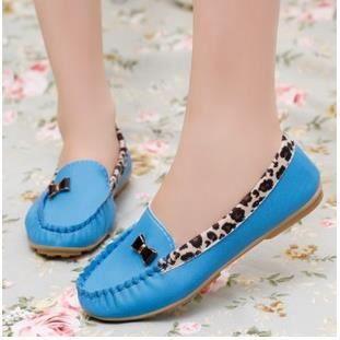 Mode féminine modèles chaussures Pois chaussures plates chaussures de dame de chaussures léopard, blanc 36