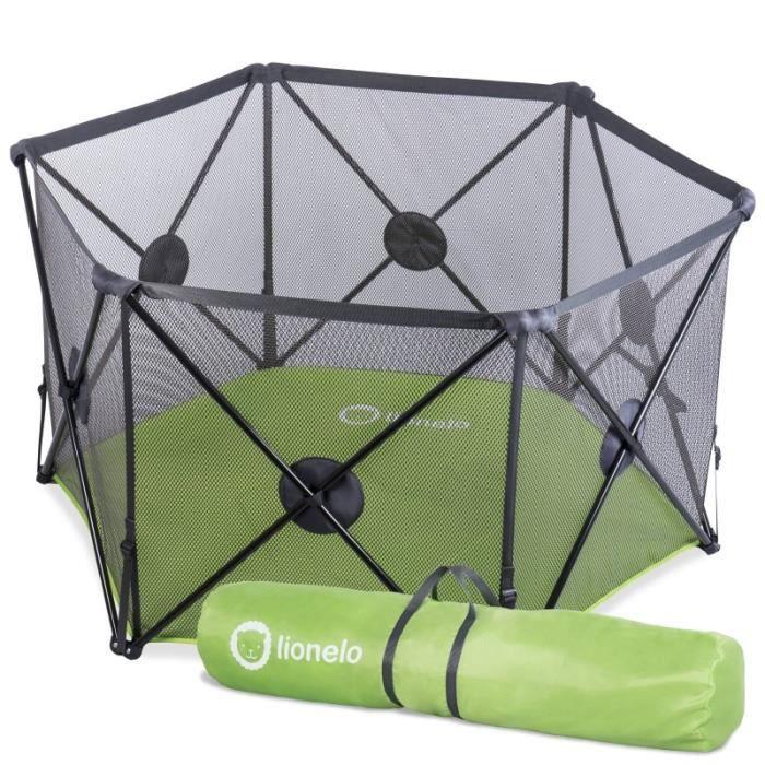 parc b b parapluie pliable noor int rieur et ext rieur 140x120cm vert vert achat vente. Black Bedroom Furniture Sets. Home Design Ideas